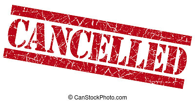 Cancelled grunge red stamp
