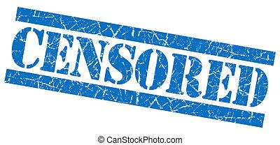 Censored grunge blue stamp