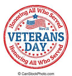 vétérans, jour, timbre
