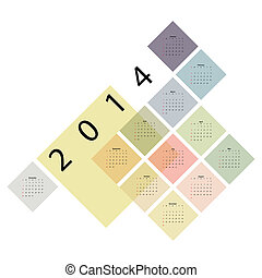 calendar - Calendar with color cubes