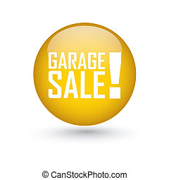 garage sale label - abstract garage sale label on white...