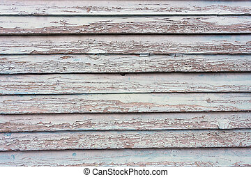 Weathered painted wood as background