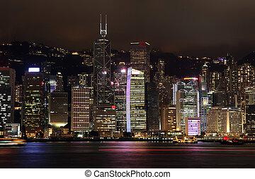 Hong Kong in the night, China