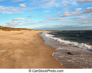 Empty Cape Cod Beach - The off-season on Hardings at...