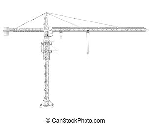 646 for How to draw a crane step by step