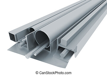 Metal pipes, angles, channels, fixtures and sheet - Rolled...