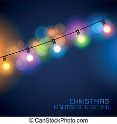 Christmas Fairy Lights - Glowing Christmas Lights Vector...