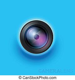 Camera Lens - Camera lens icon - Vector illustration.