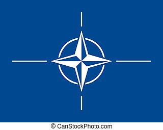 NATO flag - Vector NATO threat flag