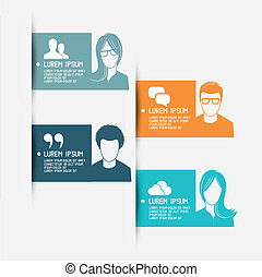 People Vector Banner Layouts - vector illustration.