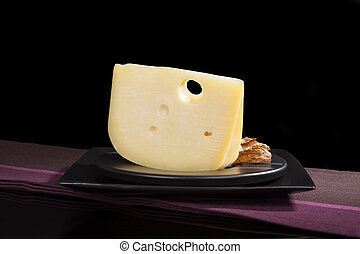 Luxurious emmentaler cheese - Culinary luxurious cheese...