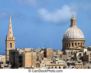 St Pauls Cathedral and Carmelite Church - The spire of St...