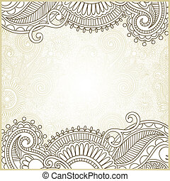 ornate card announcement - hand draw ornate card...