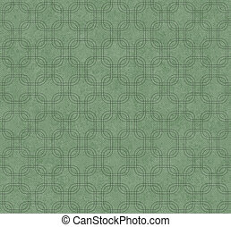 Green Interlaced Squares Textured Fabric Background that is...