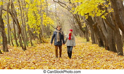 Peaceful Season - Peaceful couple enjoying their walk...