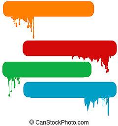 Set of splash color paint banners