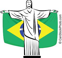 Christ - Rio de Janeiro Symbol. Christ the redeemer holding...