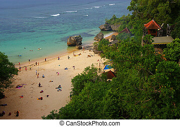 Picturesque beach in Bali - The picturesque beach of Padang...