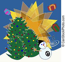 Non-religious Christmas card