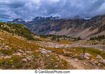 Upper Paintbrush Canyon - Marker near Upper Paintbrush...