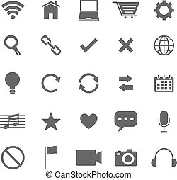 Web icons on white background