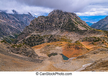 Paintbrush Divide Grand Tetons - Mountain Pass between...