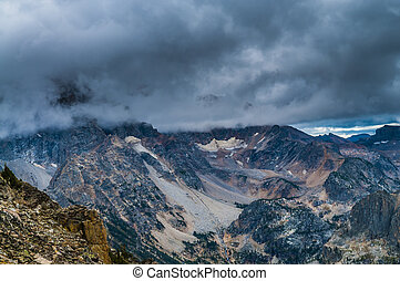 Paintbrush Divide - Dramatic Sky over mountains - View from...