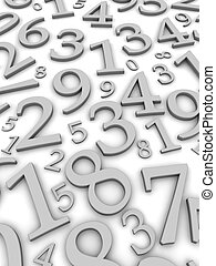 numbers background - Black and white numbers background. 3d...