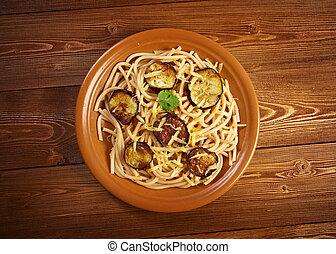 Pasta alla normarecipe with tomato sauce, eggplant ational...