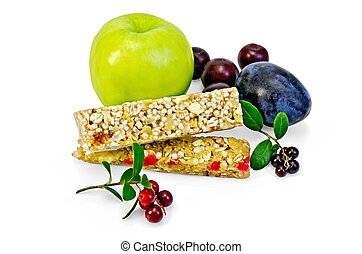 Granola bar with lingonberries and fruit - Granola bar,...