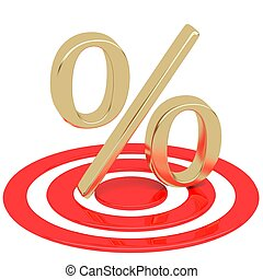 Percentage in the target. Discounts at gunpoint