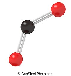 CO2 Carbon Dioxide molecule