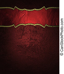 Red texture with red plate and gold trim Design template