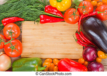 cutting board with vegetables - blank wooden cutting board...