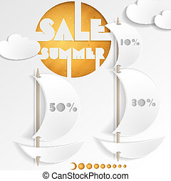 Summer Sale Business Background Vector Illustration Eps 10...