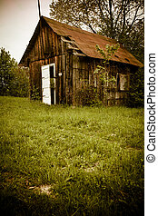 Old house - Old abandones lonely house near the forest