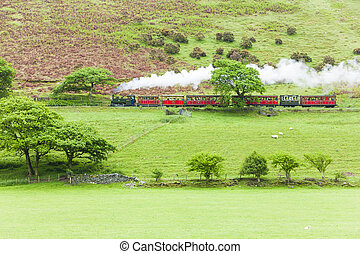 steam train, Talyllyn Railway, Wales