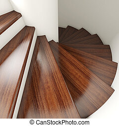 3d stair - 3d image of wood stair