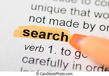 Orange marker on search word