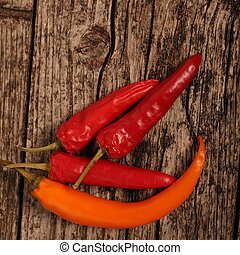 Red hot chilli peppers - Whole fresh red hot chilli peppers,...