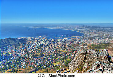 Capetown - View from the Table Mountain on Capetown