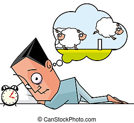 Insomnia - Seeplesss man counting sheeps