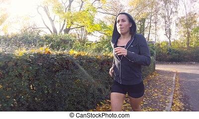 Girl Running For Fitness