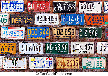 License plates - UTAH, UNITED STATES - NOVEMBER 16, 2008...