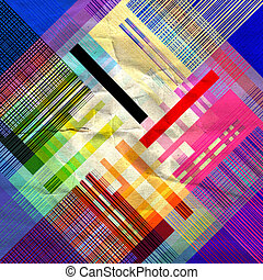 abstract colorful geometric pattern - unusual bright...