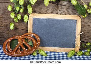 Writable Slate Blackboard - Blank writable slate blackboard...