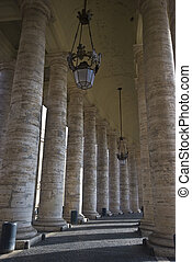 Piazza San Pietro - columns surrounding the famous Piazza...
