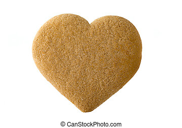 Heart. - Heart of the cookie and the white background.