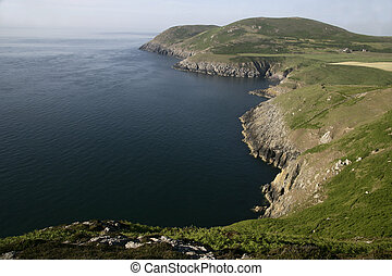 Llyn Peninsula coast line in Wales
