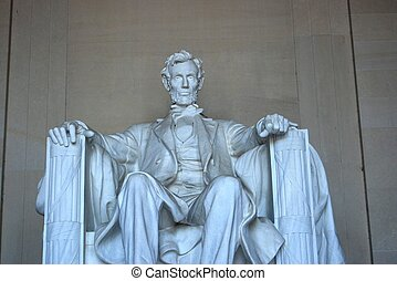 Lincoln memorial Close up - A close up of the Lincoln...